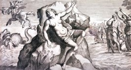 Andromeda Bound to a Rock, pl.11 from the series Galeria Nel Palazzo Farnese in Roma...da Annibale Carracci, after Annibale Carracci