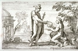 Mercury Giving a Lyre to Apollo, from the Farnese Gallery Panels after Annibale Carracci
