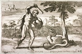 Hercules Fighting the Dragon, from the Farnese Gallery Panels after Annibale Carracci