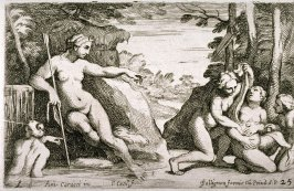 Diana Discovering the Pregnancy of Callisto, from the Farnese Gallery Panels after Annibale Carracci