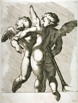 A plate from the Farnese Gallery Panels after Annibale Carracci's designs for Domenichino
