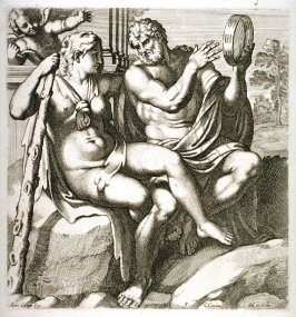Hercules Playing a Tambourine with Iole,, from the series The Farnese Gallery