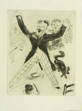 """Nozdriov,"" plate XXII, in the book Les Âmes mortes (Dead Souls) by Nicolas Gogol (Paris: Tériade Éditeur, 1948), vol. 1 of 2"