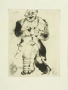 """Sobadévitch,"" plate XXXII, in the book Les Âmes mortes (Dead Souls) by Nicolas Gogol (Paris: Tériade Éditeur, 1948), vol. 1 of 2"