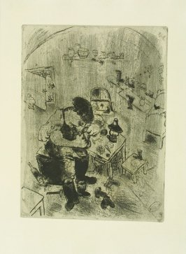 """Maxime Téliatnikov, Savetier,"" plate LI, in the book Les Âmes mortes (Dead Souls) by Nicolas Gogol (Paris: Tériade Éditeur, 1948), vol. 2 of 2"