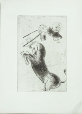 Untitled (represents Anger), between pgs. 130 and 131, in the book Les Sept péchés capitaux (The Seven Deadly Sins) by multiple authors (Paris: Simon Kra, 1926).