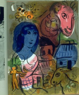 Untitled for XXe Siecle at p. 15 in the book Homage to Marc Chagall (New York: Tudor, [1969?])