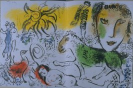 Untitled plate in the front of the book Chagall Monumental (Paris: Société internationale d'Art XXe Siècle…, 1973)
