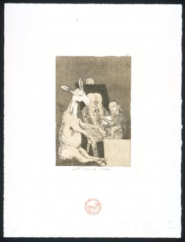 Ni mas ni menos, one of eight plates in the portfolio The Return to Goya's Caprichos