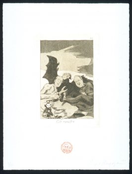 Se repulen, one of eight plates in the portfolio The Return to Goya's Caprichos