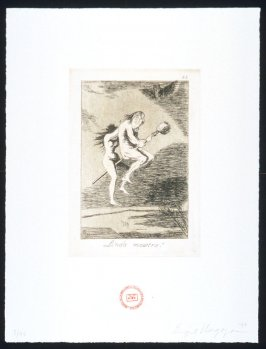 Linda maestra!, one of eight plates in the portfolio The Return to Goya's Caprichos