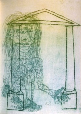"""Untitled, illustration for the poem, """"Tarahumara Herbs,"""" on page 103 in the book The Bread of Days/El pan de los dias (Covelo, California: Yolla Bolly Press, 1994)"""