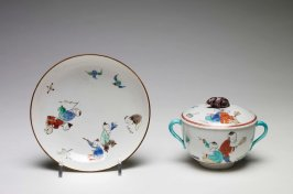 Covered Ecuelle with Saucer