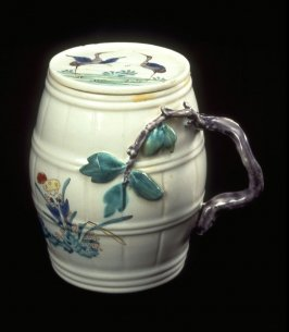 Mustard Pot, Cover and Chantilly Saucer