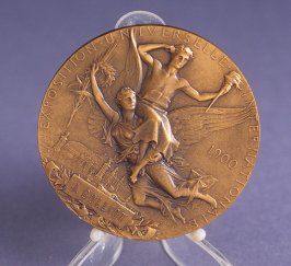 Medal awarded to J. Colliot from Exposition Universelle Internationale a Paris