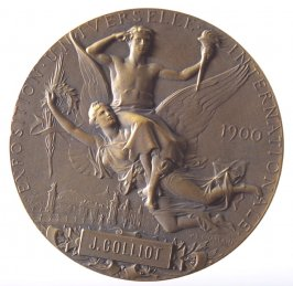 Medal: award to J. Colliot from Paris Universal Exposition