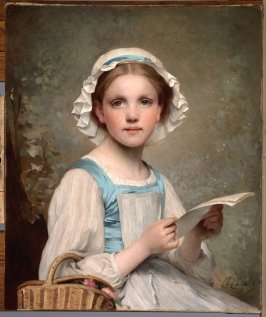 Girl with Letter