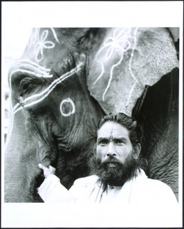 Man and Elephant, Jodhpur, Pakistan, India