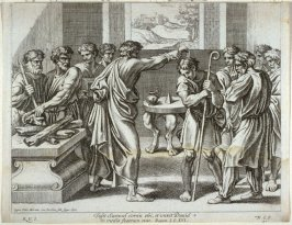 Samuel Anoints David, plate 41 from Sacrae Historiae Acta