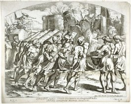 Roman Army Destroying Herod's Temple, plate 38 from Sacrae Historiae Acta