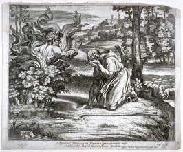 God Appearing to Moses in the Form of a Burning Bush, plate 30 from Sacrae Historiae Acta