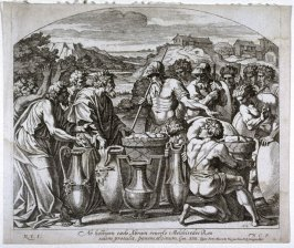 Herod Offering Bread and Wine to the Soldiers, plate 13 from Sacrae Historiae Acta