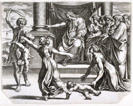King Herod Ordering the Killing of the First Born, plate from Sacrae Historiae Acta