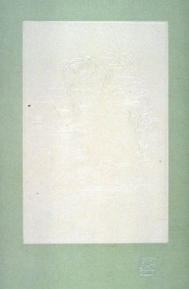 Embossed design of a woman's head