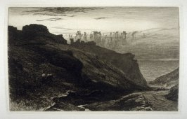 Tintagel, plate 8 in the book, The Etcher (London: Sampson Low…, 1880), vol. 2 [bound in same volume as vol. 1, 1879]