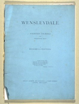 Wensleydale - Portfolio cover with list of prints and descriptive text
