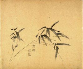 """Bearing Rain""- No.3 from the Volume on Bamboo - from: The Treatise on Calligraphy and Painting of the Ten Bamboo Studio"