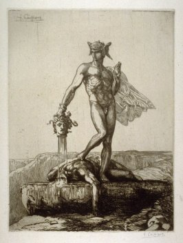 Perseus holding head of Medusa, from Improvisations sur cuivre