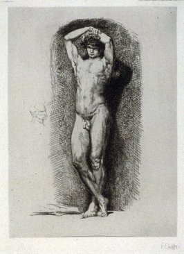 Academic Male Nude, from Improvisations sur cuivre
