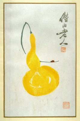 Bottle Gourd and Lady-Bird