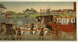 The Emperor Meji Leaving the Palace on the Occasion of his Marriage