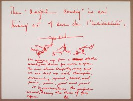 Untitled (Three Sketches with Letter)
