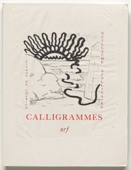 Cover, in the book Calligrammes by Guillaume Apollinaire (Paris: Librairie Gallimard, 1930)