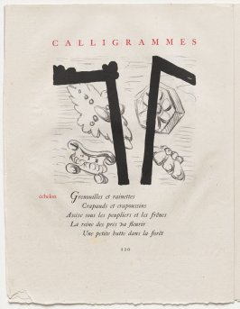 """échelon,"" pg. 120, in the book Calligrammes by Guillaume Apollinaire (Paris: Librairie Gallimard, 1930)"