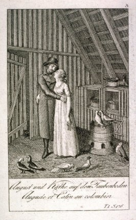 August and Kate in the attic with doves
