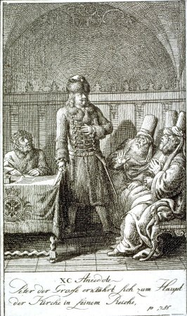 Peter the Great proclaims himself the head of the church in his empire