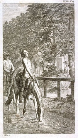 [Two men on horseback]