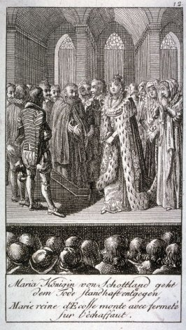 Mary, Queen of Scotland, meets her death with courage