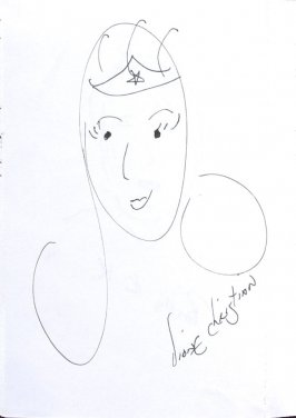 Diane Christian (Self-portrait), Illustration 55 in the book Sketchbook (Sun Valley, Idaho)a