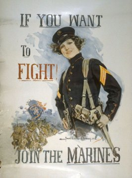 If You Want to Fight, Join the Marines - World War I poster