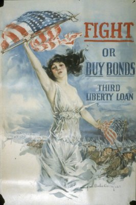 Fight or Buy Bonds - World War I poster