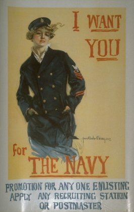 I Want You for the Navy - World War I poster