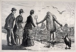 Old Neptune's Welcome - p.560 from Harper's Weekly (21 July 1877)
