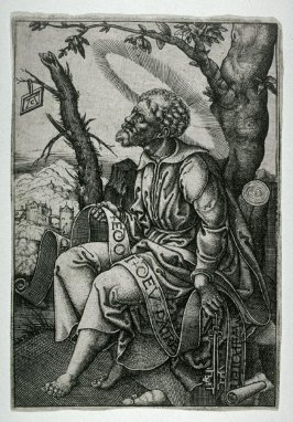 St. Peter seated under a tree
