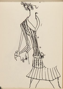 Illustration 3 in the book Sketchbook (Fashion drawings)