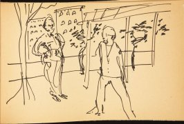 Illustration 4 in the book Out of a T'ai Chi Notebook: Observations of the spirit in words and drawings (sketchbook)